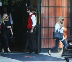 Mary Kate Olsen and Ashley Olsen leave the Bowery Hotel in NYC