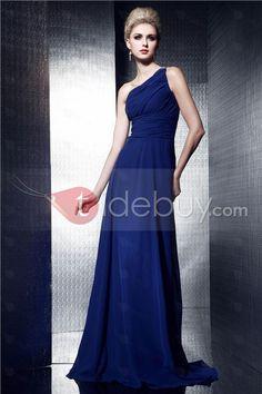 Classic One-Shoulder Floor-Length A-Line Dasha's Evening Dress
