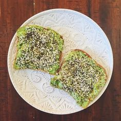 Good morning! Avocado toast sprinkled with chia and hemp seeds ? via @the.radiantlife