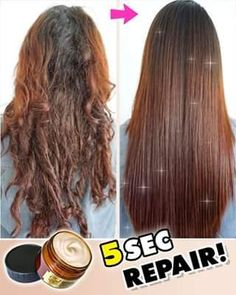 😍Transform your dry, frizzy hair to silky soft in 5 SECONDS 👉🏼 Curly Hair Styles, Natural Hair Styles, 4c Natural Hair, Ponytail Styles, Braid Styles, Natural Beauty, Hair Treatment Mask, Hair Treatment Products, Treatment For Damaged Hair