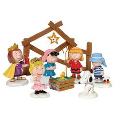 Peanuts Nativity from A Peanuts Christmas by Department 56