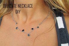 Delicate Nail Polish Necklace DIY