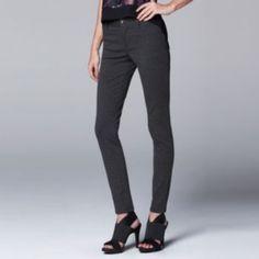 I want a pair like this so bad! Simply+Vera+Vera+Wang+Skinny+Ponte+Pants+-+Women's+&+Petite