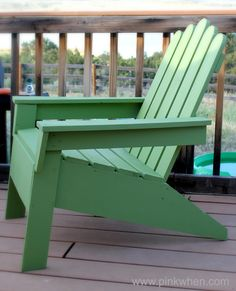 How to Build Your Own Adirondack Chair! #diy #chair