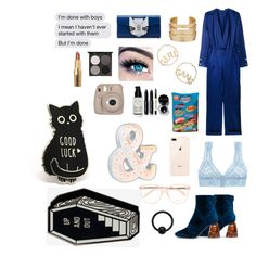 """""""Don't got one"""" by dovemswag on Polyvore featuring Thierry Mugler, E L L E R Y, Cosabella, Karl Lagerfeld, BP., MINX, Bobbi Brown Cosmetics, Gorgeous Cosmetics, Fujifilm and Vintage Marquee Lights"""