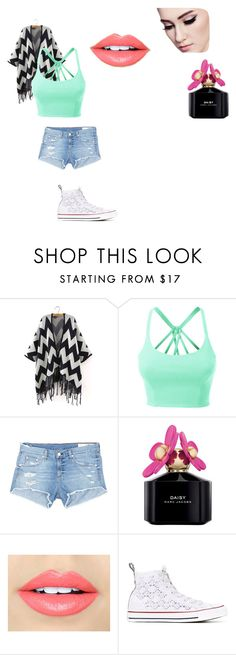 """""""Cutie cuteness"""" by shea-rhodes ❤ liked on Polyvore featuring LE3NO, rag & bone/JEAN, Marc Jacobs, Fiebiger and Converse"""