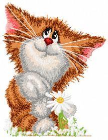 Does not love cat machine embroidery design. Machine embroidery design. www.embroideres.com