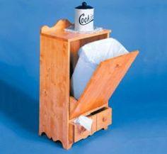 29-CC26 - Kitchen Trash Hidden in Cabinet Woodworking Plan