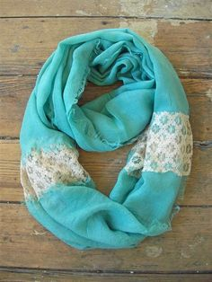 Lace Infinity Scarf - who says you can't wear scarves in the Spring?