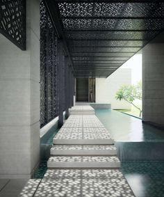 Amazing Shading Device! #Design Singaporean Luxury Villa on Architizer