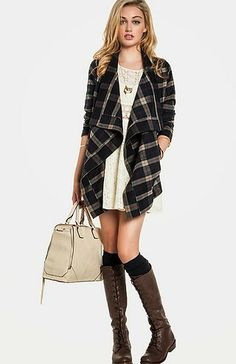 Fall Fashion....want this sweater coat.