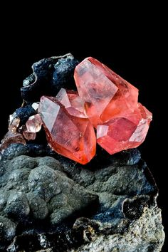 Beautiful Rhodochrosite from San Martín Mine, Peru Credit: Le Coeur D'or Visit Amazing Geologist for more. Minerals And Gemstones, Rocks And Minerals, Crystals And Gemstones, Stones And Crystals, Natural Gemstones, Gem Stones, Mineral Stone, Rocks And Gems, Calm