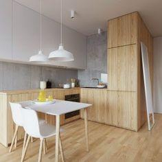 Scandinavian Dining Room Design: Ideas & Inspiration - Di Home Design Kitchen Room Design, Modern Kitchen Design, Dining Room Design, Living Room Kitchen, Interior Design Kitchen, Interior Design Living Room, Kitchen Decor, Kitchen Grey, Kitchen Layouts