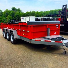 We received a HUGE B-Wise tri-axle dump trailer for one of our customers! We are pleased to offer our customers the top brands in the… Work Trailer, Trailer Plans, Trailer Build, Tiny House Trailer, Utility Trailer, Trailer Hitch, Atv Trailers, Dump Trailers, Welding Trailer