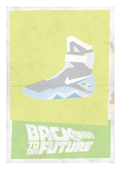 Back to the Future Minimalist Print  Nike by lomocostore on Etsy, $35.00