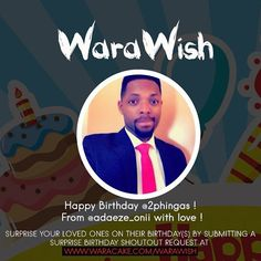 Better late than never. We are sorry for posting this late ! Happy Birthday @2phingas !! From @adaeze_onii with . #waracake #warawish