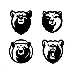 🤔🐻 I am sharing a little collection of mine including the bear logos I have designed for my clients so far. Welding Logo, Logo Branding, Branding Design, Bear Sketch, One Logo, Logo Type, Tribal Tattoos For Men, Bear Tattoos, Bear Graphic
