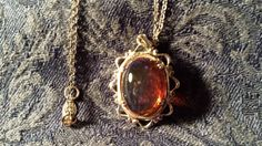 BEAUTIFUL Dragon's Breath Pendant w/ Sterling Chain by ceiltiques