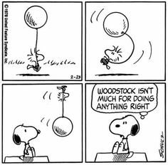 """""""Woodstock isn't much for doing anything right"""", Snoopy and Woodstock"""