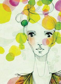 wowed by artist ekaterina koroleva 's style and range. Kunstjournal Inspiration, Art Journal Inspiration, Painting Inspiration, Art And Illustration, Illustrations Posters, Gustav Klimt, Art Du Collage, Art Design, Face Art