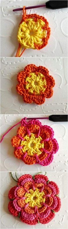 Stylish And Adorable Free crochet pattern - Diy & Craft Crochet Mat, Crochet Dishcloths, Cute Crochet, Crochet Doilies, Easy Crochet, Crochet Flower Patterns, Crochet Designs, Crochet Flowers, Knitting Patterns