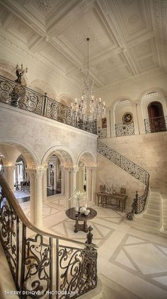 Entrance, double staircase is a must.