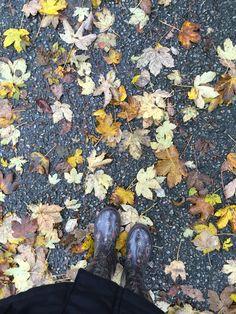 Me my Havaianas boot, and leafs of fall. Eu minhas botas Havaianas e as folhas de outono. Fyllingsdalen, Bergen, Norway. Norge. Noruega.Fall,Autumn, Høst, outono.