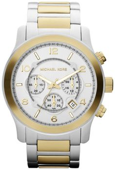 Michael Kors Runway Two Tone Chronograph Men's Watch $184.85 http://amzn.com/B00945B0N8 #MenWatches