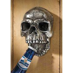 Grim Reaper Gothic Skeleton Skull  Wall Mounted Bottle Opener Biker Beer Wine