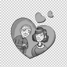 Shapingba District Marriage Old Age Echtpaar Family PNG - appreciate, black and white, care, circle, cohabitation Old Age, Marriage, Stickers, Black And White, People, Free, Valentines Day Weddings, Blanco Y Negro, Sticker