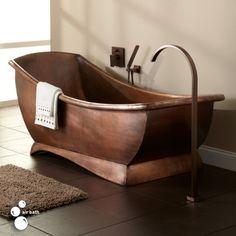 """67""""+Catania+Smooth+Copper+Freestanding+Air+Bath+Tub"""