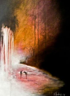 "Vikki Hastings; Acrylic, 2011, Painting """"Sky On Fire"""""