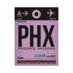 PHX Phoenix Luggage Tag