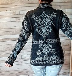 Ravelry: Hourglass pattern by Steffi Schultz Amazing! Fair Isle Knitting Patterns, Sweater Knitting Patterns, Cardigan Pattern, Knitting Designs, Knit Patterns, Knitting Tutorials, Stitch Patterns, Pullover Design, Sweater Design