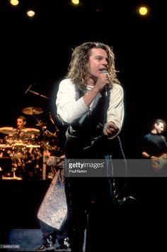 Michael Hutchence of INXS at the Poplar Creek Music Theater in Hoffman Estates, Illinois, June 24, 1988