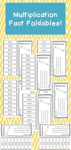 Great foldable to help students learn their multiplication facts. The students will also have a chance to use multiplication by answering a word problem. by sandy Multiplication Facts, Math Facts, Student Learning, Teaching Math, Math Resources, Math Activities, Cardinal Numbers, Math School, Fourth Grade Math