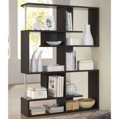 Kaleb Dark Brown/ Espresso Modern Storage Shelf | Overstock.com Shopping - Great Deals on Baxton Studio Media/Bookshelves