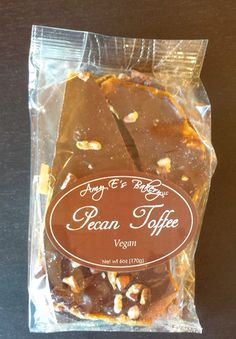 Amy E's Bakery - Vegan Pecan Toffee #vegan
