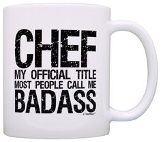 Chef Gifts Official Title Call Me Badass Coworker Gift Office Gift Coffee Mug Tea Cup White *** Awesome product. Click the image : Coffee Mugs