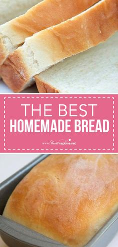 sandwich bread Delicious homemade bread - The BEST bread recipe thats super soft and has the perfect touch of sweetness. Top it with fresh homemade jam for the ultimate treat. Theres nothing better than a slice of homemade bread! Best Homemade Bread Recipe, Homeade Bread, Homemade White Bread, Homemade Vanilla, Bread Machine Recipes, Bread Machine Bread, Bread Bun, Fresh Bread, Fresh Yeast Bread Recipe