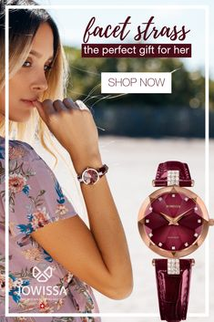Classy ladies watches make great gifts for women. Our Swiss Made women's watches by Jowissa come in bold colors and unique designs. Perfect for a chic, elegant look. Ladies Watches, Watches For Men, Women's Watches, Great Gifts For Women, Gifts For Her, Rose Gold Watches, Perfect Gift For Her, Classy Women, Women Jewelry