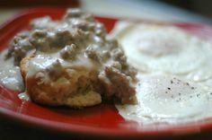 Sausage Gravy & Buttermilk Skillet Biscuits