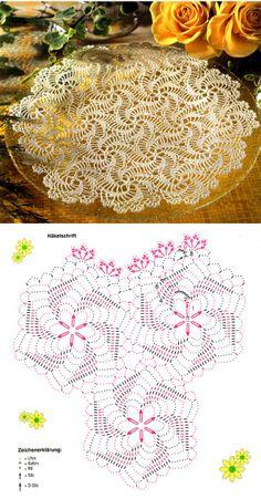Letras e Artes da Lalá: Toalha de crochê