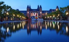 The Rijksmuseum, in Amsterdam, reflected in a pool. (From: Photos: World's Most Beautiful Museums)