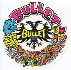 Santa Cruz Speed Wheels Bullet sticker.   Click on pic to purchase!