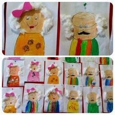 Kinderboekenweek 2016, opa en oma knutselen Grandparent's day craft idea for kids