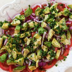 Tomato, Onion, Avocado Salad