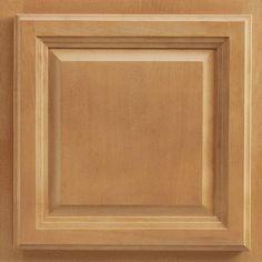American Woodmark 13x12-7/8 in. Portland Maple Cabinet Door Sample in Spice