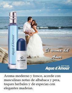Fragancia AQUA D´ AMOUR caballero, 60ml, desodorante roll on AQUA D´ AMOUR, 85 g.