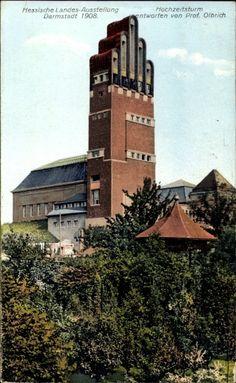 Ansichtskarte / Postkarte Darmstadt in Hessen, Hessische Landesausstellung 1908, Hochzeitsturm